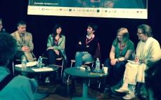 Rencontre du samedi après-midi en compagnie d'Éric Sénabre, Édith, ainsi que Nina Allan accompagnée de sa traductrice (Claudine Glot à la modération)